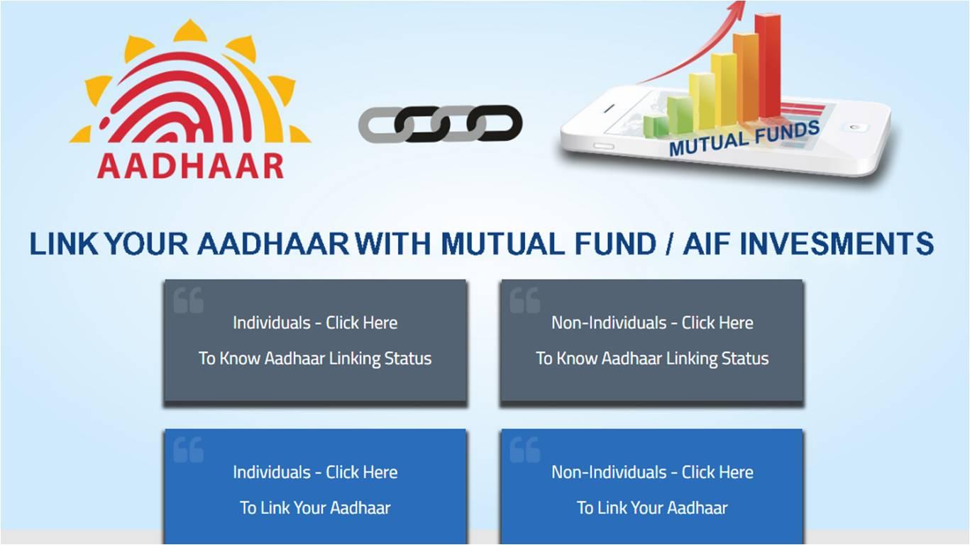 Karvy aadhaar linking with Mutual funds